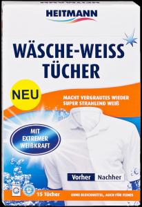 Heitmann skalbinių servetėlės baltiems audiniams, apsauga nuo papilkėjimo 15vnt